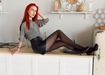 Redhead Teen Girls in Miniskirts and Hosiery